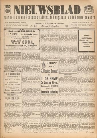 Nieuwsblad het land van Heusden en Altena de Langstraat en de Bommelerwaard 1921-11-19