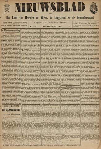 Nieuwsblad het land van Heusden en Altena de Langstraat en de Bommelerwaard 1895-06-26
