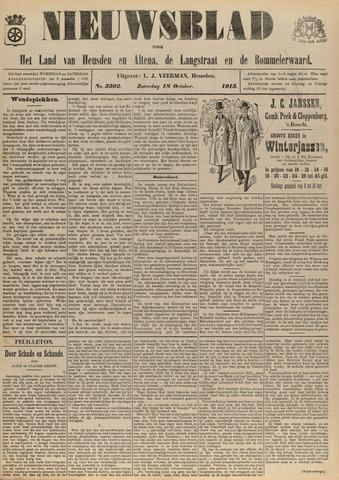 Nieuwsblad het land van Heusden en Altena de Langstraat en de Bommelerwaard 1913-10-18