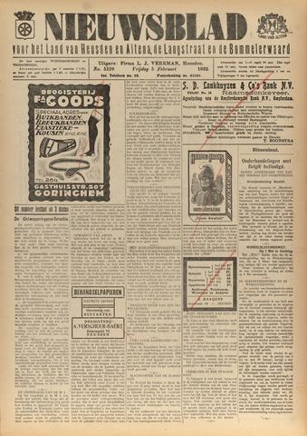 Nieuwsblad het land van Heusden en Altena de Langstraat en de Bommelerwaard 1932-02-05