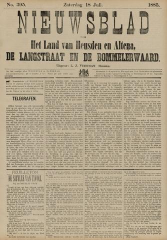 Nieuwsblad het land van Heusden en Altena de Langstraat en de Bommelerwaard 1885-07-18