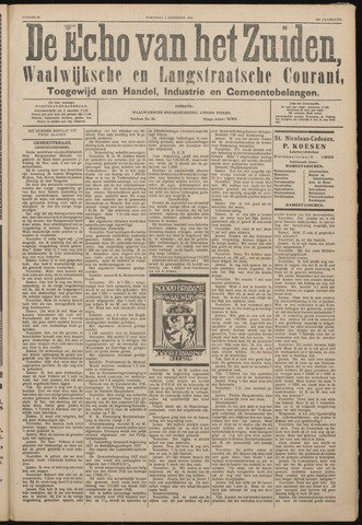 Echo van het Zuiden 1926-12-01