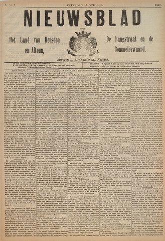 Nieuwsblad het land van Heusden en Altena de Langstraat en de Bommelerwaard 1891-10-17