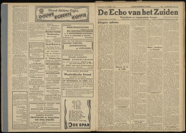 Echo van het Zuiden 1947-04-22