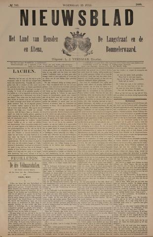 Nieuwsblad het land van Heusden en Altena de Langstraat en de Bommelerwaard 1888-07-25