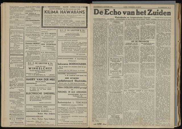 Echo van het Zuiden 1948-01-22