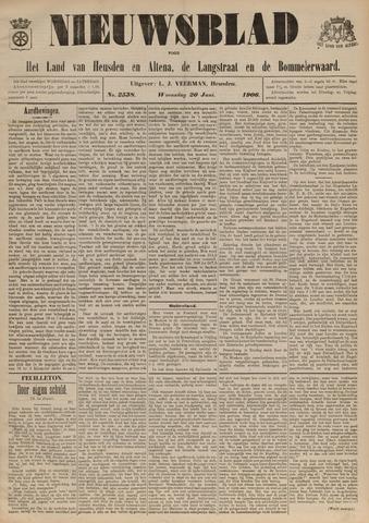 Nieuwsblad het land van Heusden en Altena de Langstraat en de Bommelerwaard 1906-06-20