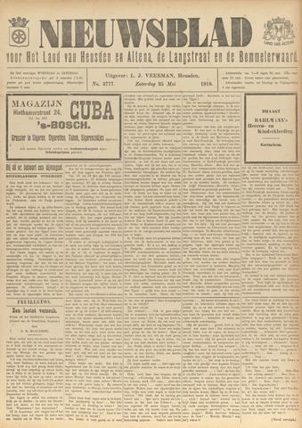 Nieuwsblad het land van Heusden en Altena de Langstraat en de Bommelerwaard 1918-05-25
