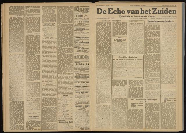 Echo van het Zuiden 1947-07-24