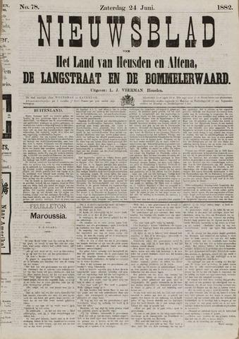 Nieuwsblad het land van Heusden en Altena de Langstraat en de Bommelerwaard 1882-06-24