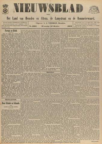 Nieuwsblad het land van Heusden en Altena de Langstraat en de Bommelerwaard 1913-10-15