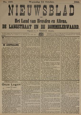 Nieuwsblad het land van Heusden en Altena de Langstraat en de Bommelerwaard 1885-10-14
