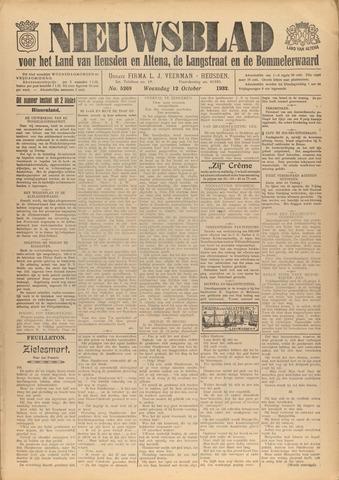 Nieuwsblad het land van Heusden en Altena de Langstraat en de Bommelerwaard 1932-10-12