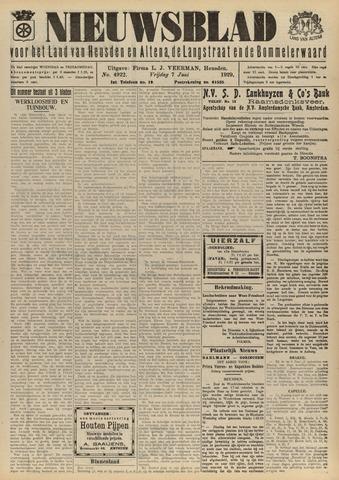 Nieuwsblad het land van Heusden en Altena de Langstraat en de Bommelerwaard 1929-06-07