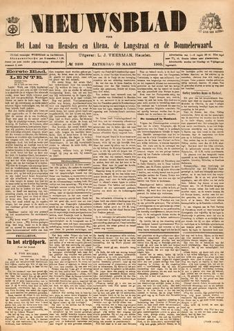 Nieuwsblad het land van Heusden en Altena de Langstraat en de Bommelerwaard 1905-03-25