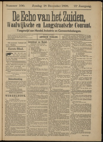 Echo van het Zuiden 1898-12-18