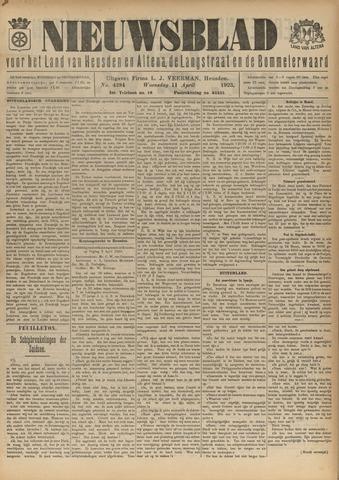 Nieuwsblad het land van Heusden en Altena de Langstraat en de Bommelerwaard 1923-04-11