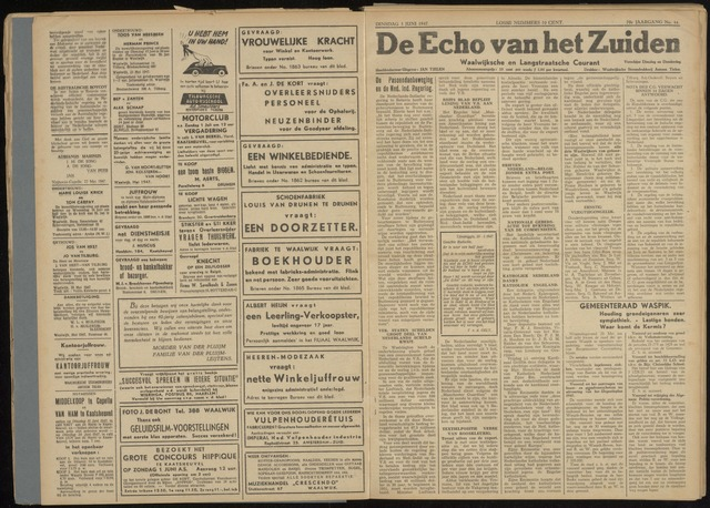 Echo van het Zuiden 1947-06-03