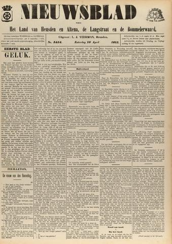 Nieuwsblad het land van Heusden en Altena de Langstraat en de Bommelerwaard 1915-04-10
