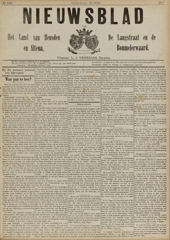 Nieuwsblad het land van Heusden en Altena de Langstraat en de Bommelerwaard 1890-07-26