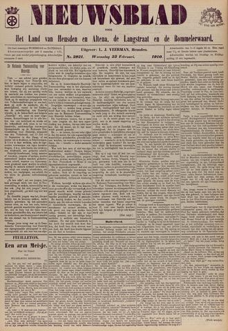 Nieuwsblad het land van Heusden en Altena de Langstraat en de Bommelerwaard 1910-02-23