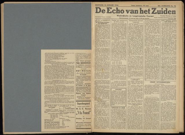 Echo van het Zuiden 1946-01-14