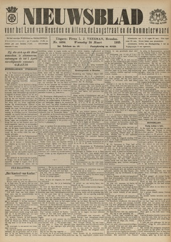 Nieuwsblad het land van Heusden en Altena de Langstraat en de Bommelerwaard 1925-03-18