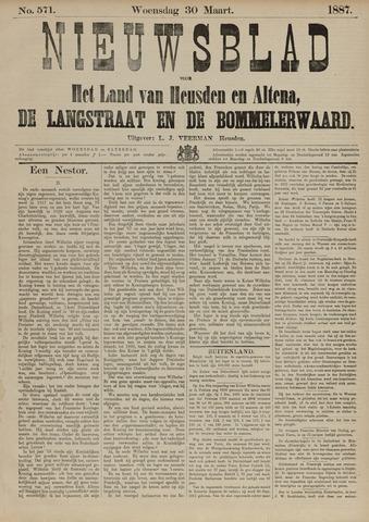 Nieuwsblad het land van Heusden en Altena de Langstraat en de Bommelerwaard 1887-03-30