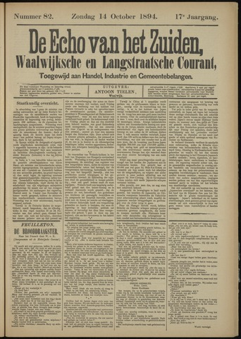 Echo van het Zuiden 1894-10-14
