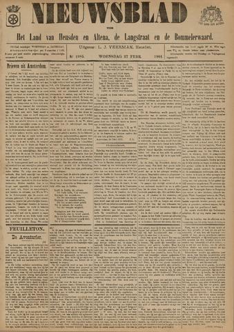 Nieuwsblad het land van Heusden en Altena de Langstraat en de Bommelerwaard 1901-02-27