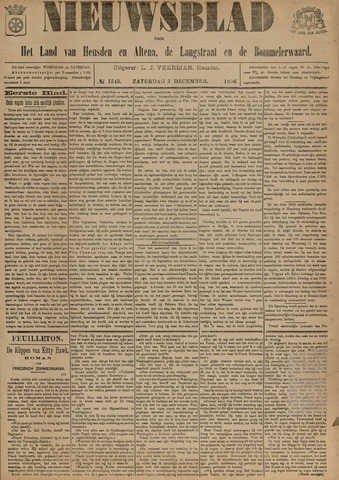 Nieuwsblad het land van Heusden en Altena de Langstraat en de Bommelerwaard 1896-12-05