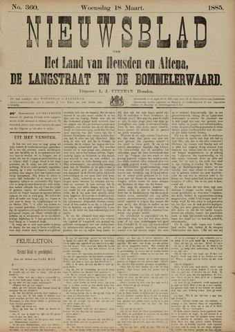 Nieuwsblad het land van Heusden en Altena de Langstraat en de Bommelerwaard 1885-03-18