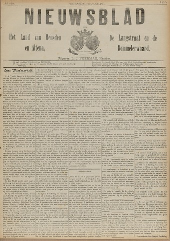 Nieuwsblad het land van Heusden en Altena de Langstraat en de Bommelerwaard 1890-01-29