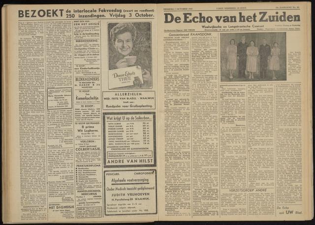 Echo van het Zuiden 1947-10-07