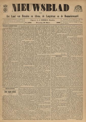 Nieuwsblad het land van Heusden en Altena de Langstraat en de Bommelerwaard 1906-03-28