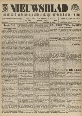 Nieuwsblad het land van Heusden en Altena de Langstraat en de Bommelerwaard 1925-04-03