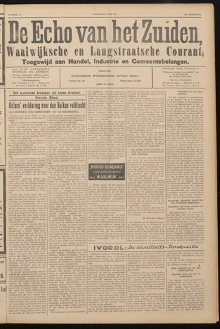 Echo van het Zuiden 1941-05-07
