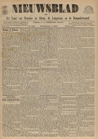 Nieuwsblad het land van Heusden en Altena de Langstraat en de Bommelerwaard 1903-09-16