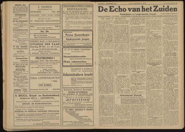 Echo van het Zuiden 1947-12-02