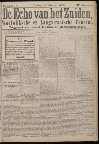 Echo van het Zuiden 1908-02-23