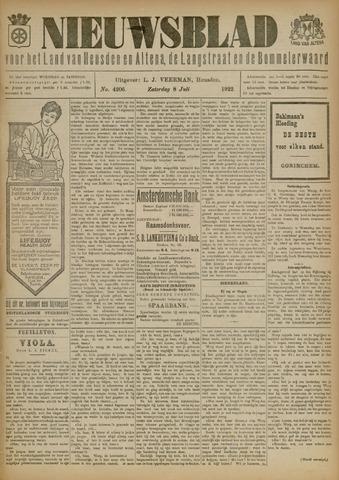 Nieuwsblad het land van Heusden en Altena de Langstraat en de Bommelerwaard 1922-07-08