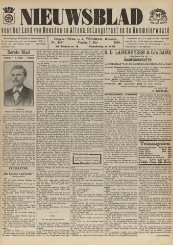 Nieuwsblad het land van Heusden en Altena de Langstraat en de Bommelerwaard 1925-05-01