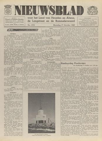 Nieuwsblad het land van Heusden en Altena de Langstraat en de Bommelerwaard 1949-10-17
