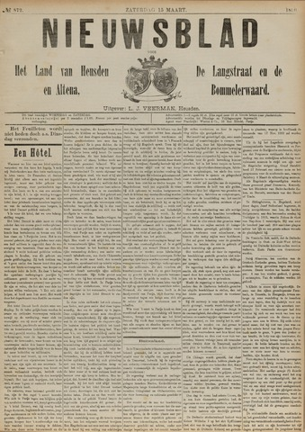 Nieuwsblad het land van Heusden en Altena de Langstraat en de Bommelerwaard 1890-03-15