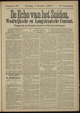 Echo van het Zuiden 1894-10-07