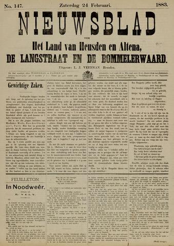 Nieuwsblad het land van Heusden en Altena de Langstraat en de Bommelerwaard 1883-02-24