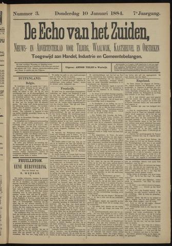 Echo van het Zuiden 1884-01-10