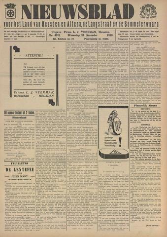Nieuwsblad het land van Heusden en Altena de Langstraat en de Bommelerwaard 1929-11-27