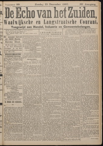 Echo van het Zuiden 1907-12-15
