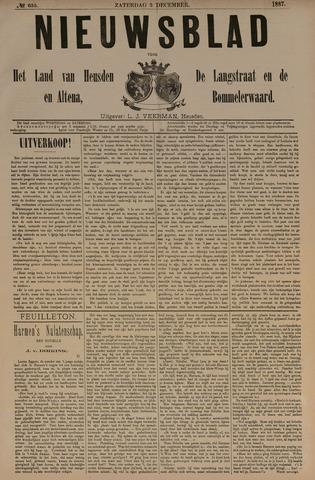Nieuwsblad het land van Heusden en Altena de Langstraat en de Bommelerwaard 1887-12-03
